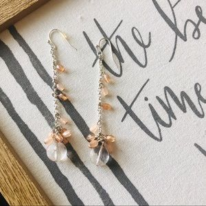 Dangle earrings peach handmade